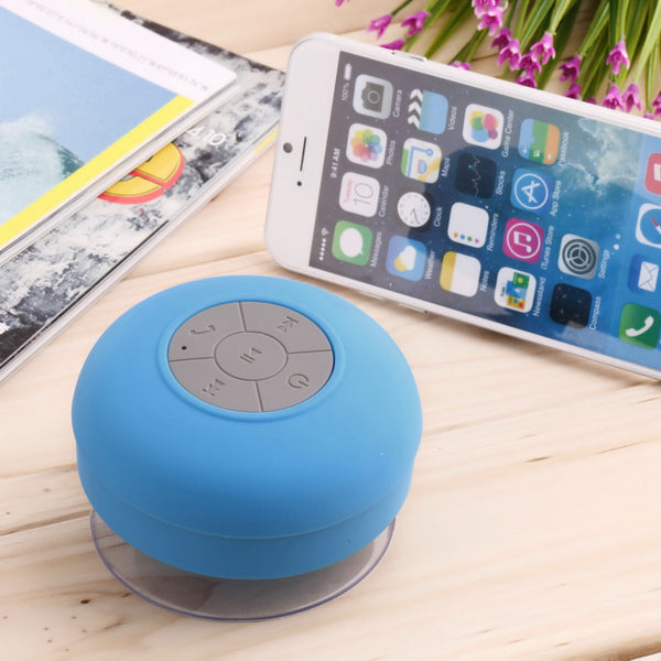 IP4 Subwoofer Shower Waterproof Wireless Bluetooth Speaker Car Handsfree Call Music Suction Mic For IOS Android Phone