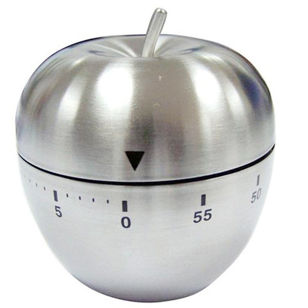 Mechanical New Kitchen Timer Alarm Count Down 60 Minutes Stainless Steel