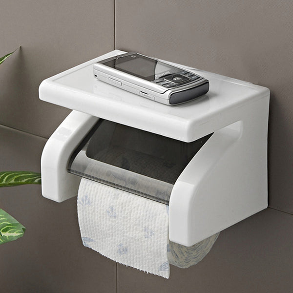 2017 NEW &   1 Pc Wall Mounted Plastic Waterproof Toilet Roll Paper Box Holder Bathroom Tool