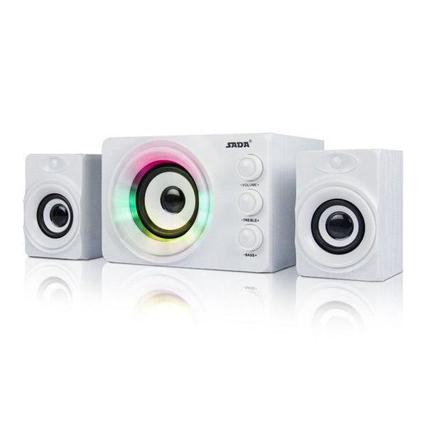 SADA Computer Speaker Colorful Breathing Light Mini USB Speaker For Desktop PC Cell Phone MP3