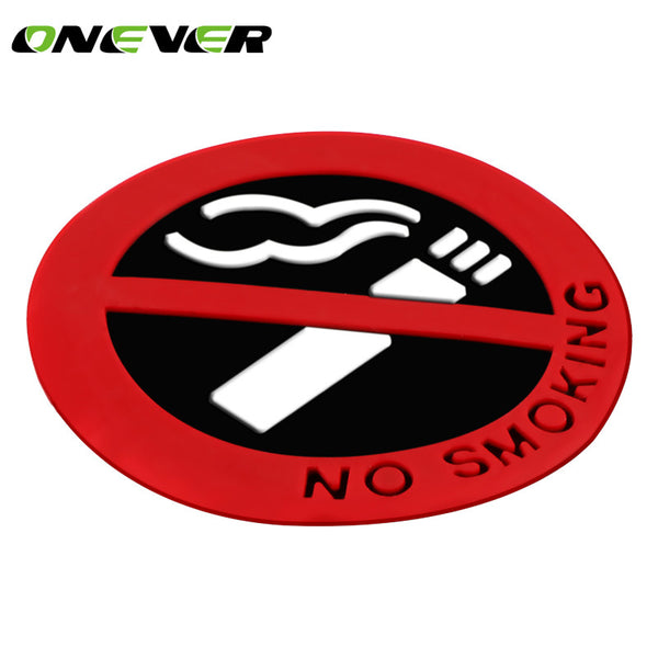 car-styling No Smoking Logo Glue Sticker Warning Car Stickers Easy To Stick for universal cars