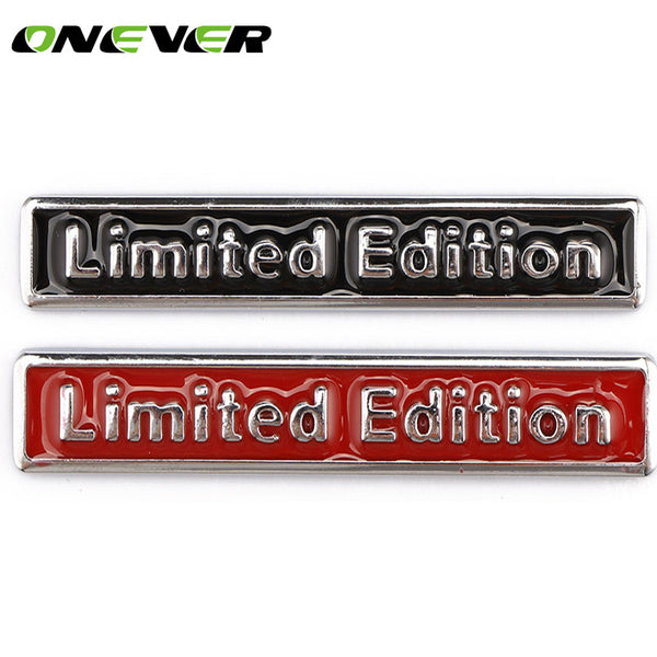 3D Metal Limited Edition Car Stickers Chrome Badge Decals Auto Motorcycle Emblem Car Styling Motorcycle sticker decoration