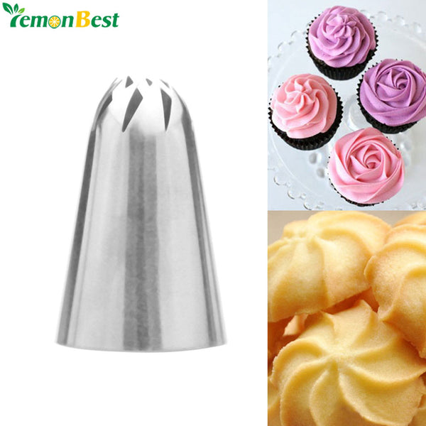 Stainless Steel Cream Nozzle Piping Nozzles Fondant Tips Nozzle Tool For Pastry Cake Decorating Cake Decorating Baking Tools