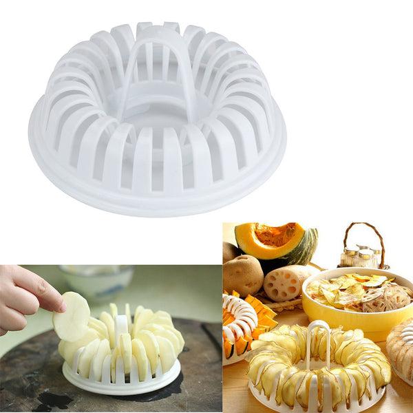 DIY Microwave Potato Chips Cooked Oven Microwave Cutting Grill Basket Slicer