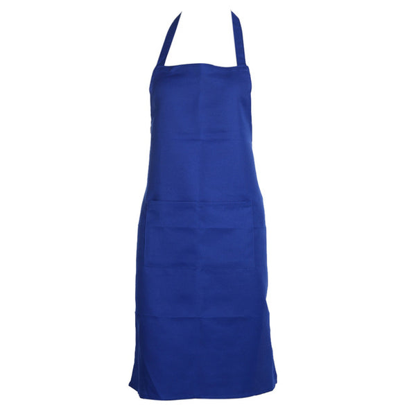 3 colors Unisex Solid  Polyester Cooking apron chef Kitchen Restaurant Home Bib Cooking Aprons dress With Pocket