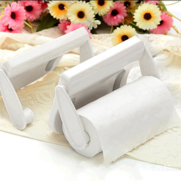 toilet paper holder papel parede Seamless Self Adhesive Plastic Paper Tissue Towel Roll Rack Holder Space Saving Dispenser