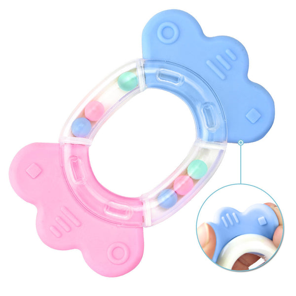 Safety Baby Toddler Teether Hand Shake Bell Ring Funny Educational Toy
