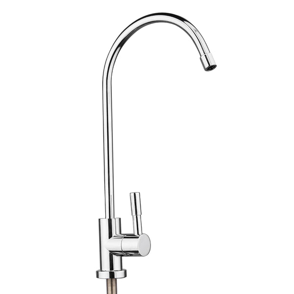 Newest Water Filter Basin Faucets Chrome Plated 1/4 Inch Connect Hose Reverse Osmosis Filters Parts Purifier Direct Drinking Tap