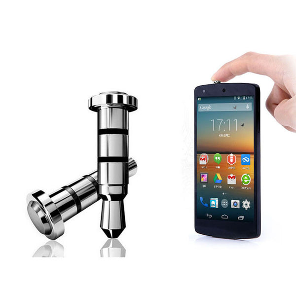 2PC Click Quick iKey Press Button Dust Plug for Android OS APP Shortcut