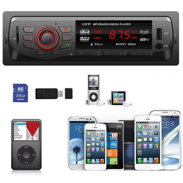In Dash Car Audio Bluetooth Stereo Head Unit MP3/USB/SD/AUX/FM Input AUX