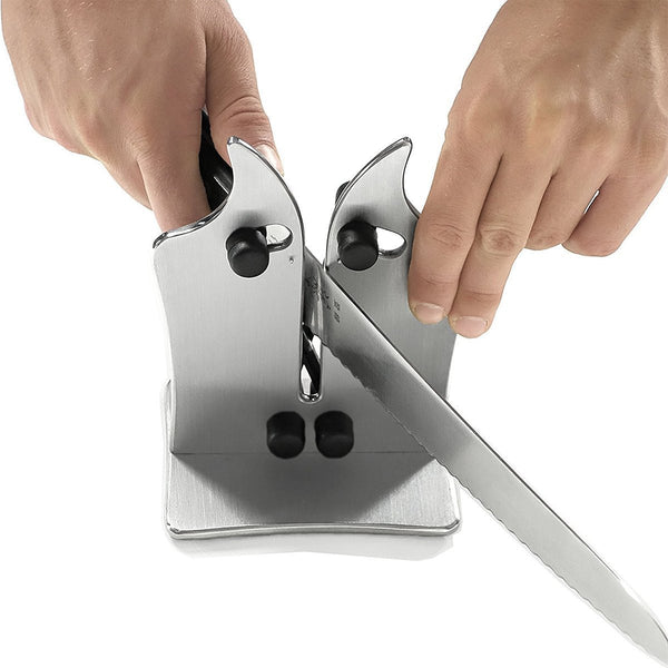 Kitchen Knife Sharpener Adjustable Edges for Serrated and Straight Knives