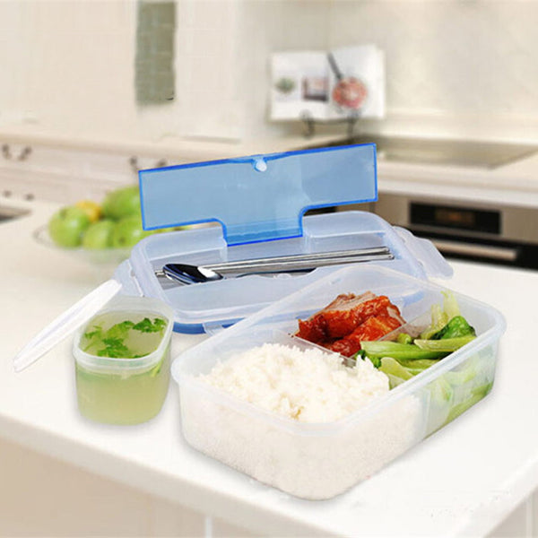 1000mL lunchbox Modern Eco-friendly Outdoor Portable Microwave LunchBox with Soup Bowl Food Containers