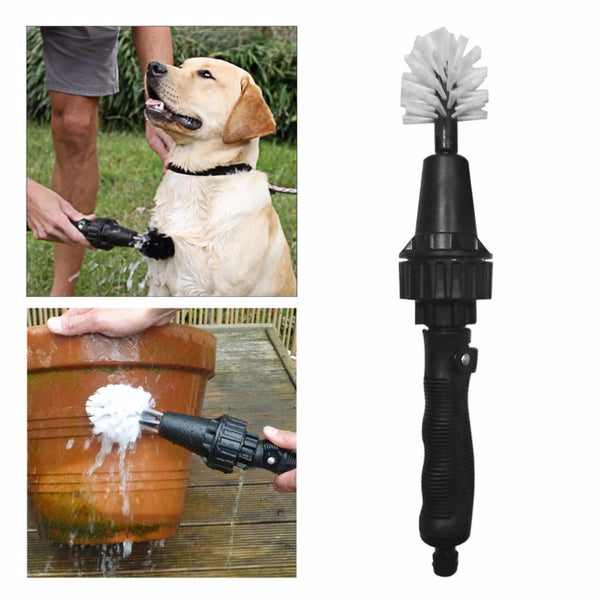 Multifunctional Handheld Design Household Washing Water Spray Brush High Pressure Portable Car Cleaning Rotatry Brush Tool