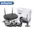 4Ch 1.0MP 720P WIFI IP Camera System kit Waterproof Security CCTV Surveillance Night Vision Wireless NVR Kit P2P Cloud