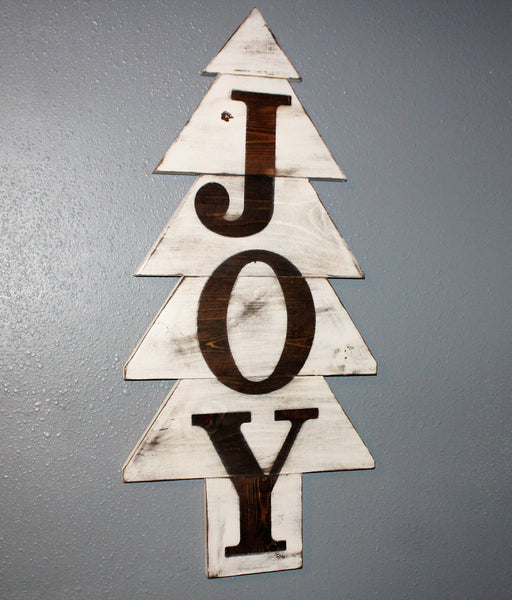 Christmas Tree JOY sign