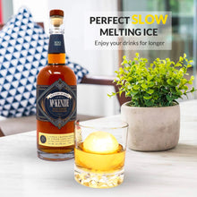 Load image into Gallery viewer, Ice Ball Mold - 2.5 inch Round Sphere Large Silicone Ice Cube Tray, BPA Free Non-Toxic - Easy to Fill Molds that make Massive Sized Whiskey Ice, for Cocktails & All Beverages (Pack of 2)
