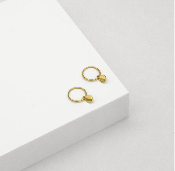 Ridge Sleeper Hoop Earrings