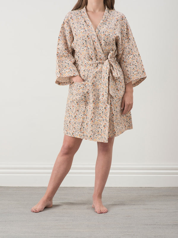 Wildflower Linen Dressing Gown