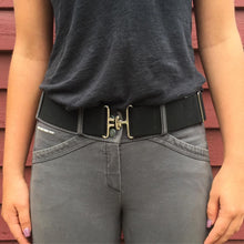 Black + Silver Elastic Belt