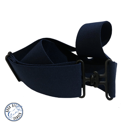 Buck Off Cancer | Navy + Black Elastic Belt