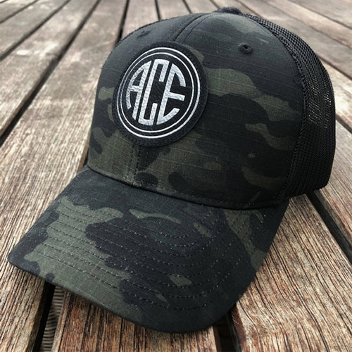 ACE Camo Patch Hat - Black