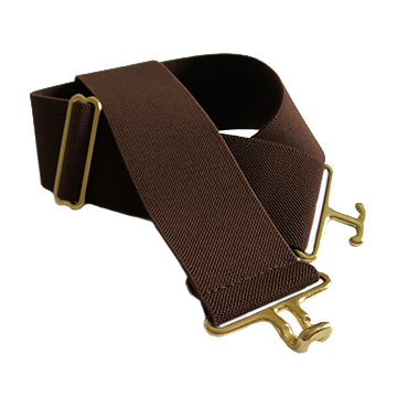 Chocolate + Brass Elastic Belt