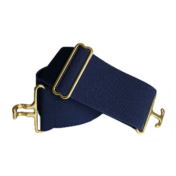 Navy + Brass Elastic Belt