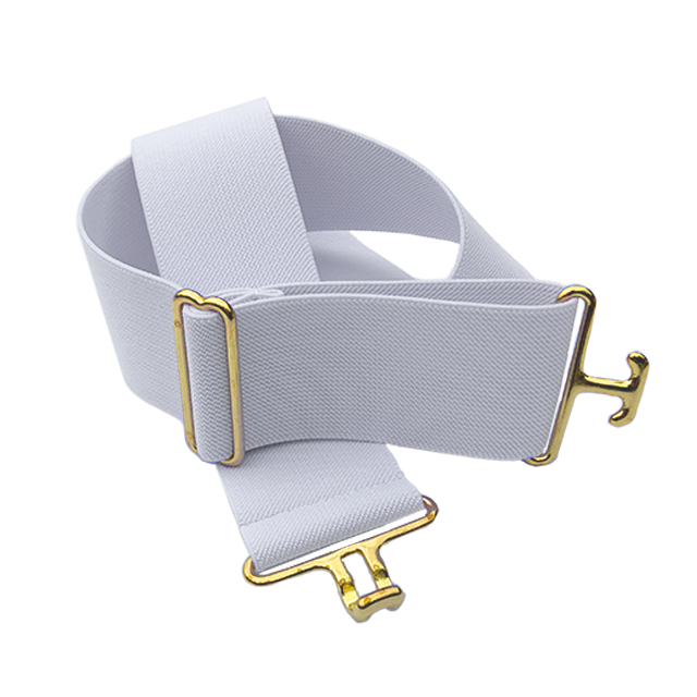 White + Brass Elastic Belt
