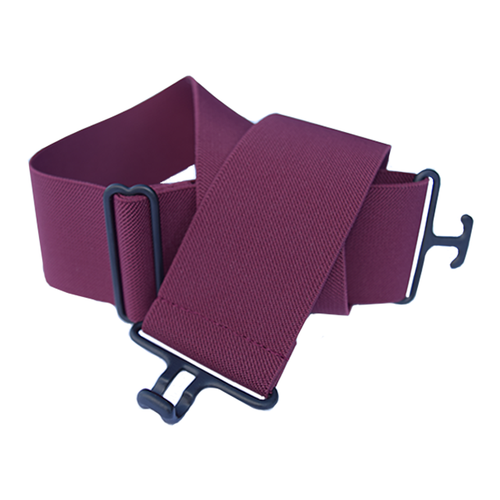 Burgundy + Black Elastic Belt
