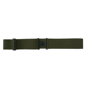 Olive + Black Elastic Belt
