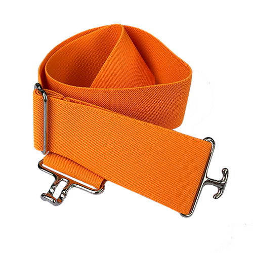 Orange + Silver Equestrian Belt