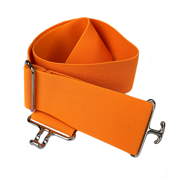 Orange + Silver Elastic Belt