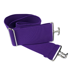 Purple + Silver Elastic Belt