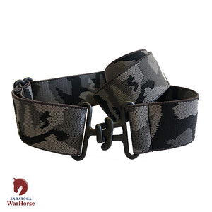 Saratoga WarHorse | Thin Grey Camo + Black Elastic Belt