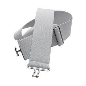White + Silver Elastic Belt