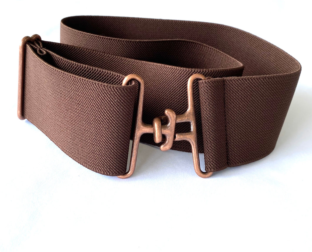 Chocolate + Copper Elastic Belt