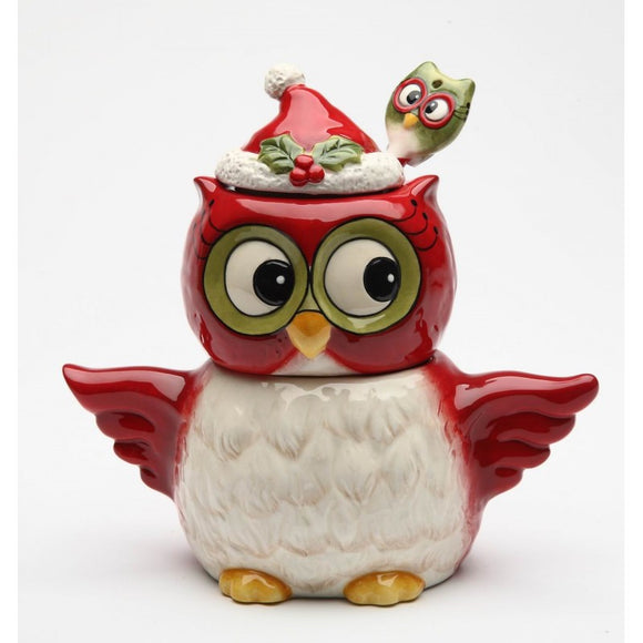 Christmas Owl Sugar & Creamer Set