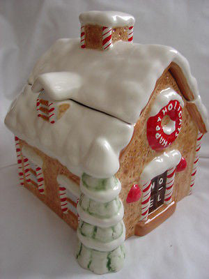 Christmas Holiday Gingerbread House Cookie Jar