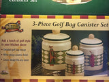 Golf Bag Three Piece Canister Set