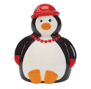 Holiday Penguin Party Scrubby Holder