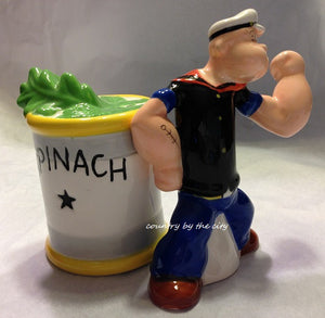 Popeye & Spinach Magnetic Salt & Pepper Set