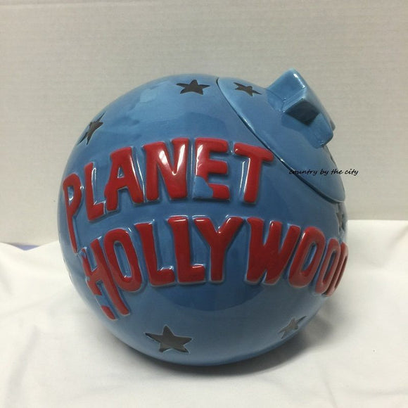 Planet Hollywood Globe Cookie Jar