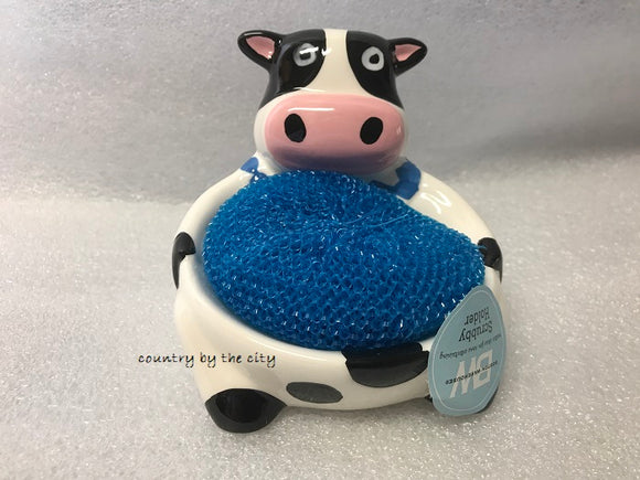 Sitting Cow Scrubby Holder