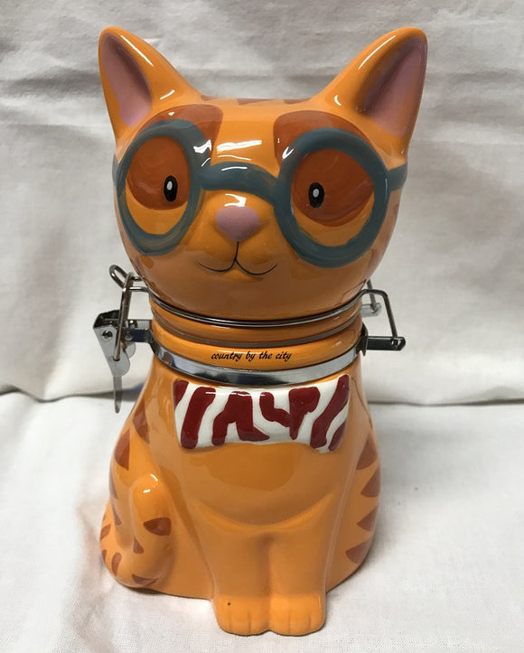 Smarty Cat Hinged Treat Jar