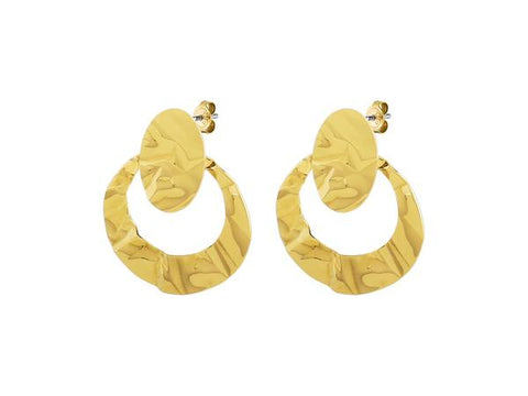 FIANCA SHINY GOLD EARRINGS