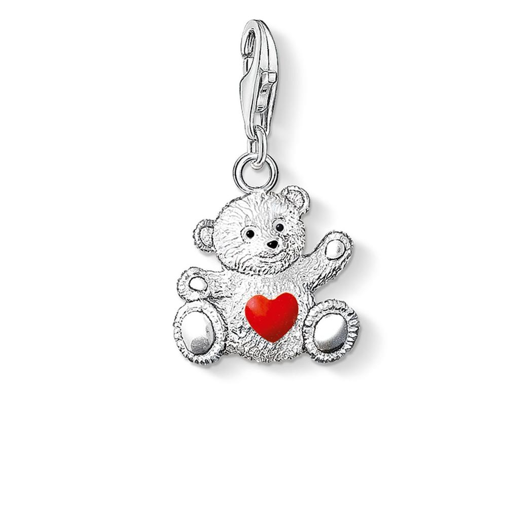 STERLING SILVER C/CLUB CHARITY BEAR CHARM