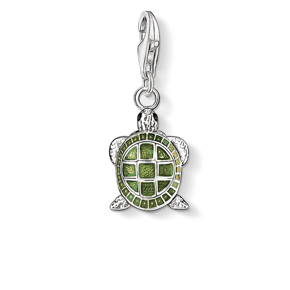 STERLING SILVER C/CLUB TURTLE CHARM