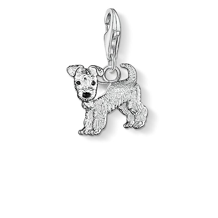 STERLING SILVER C/CLUB FOX TERRIER CHARM