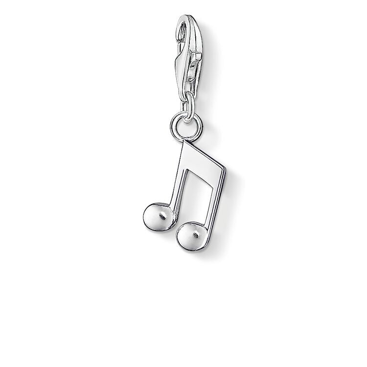 STERLING SILVER C/CLUB MUSIC NOTE CHARM