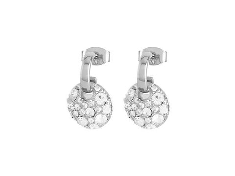 BENNET SHINY SILVER CRYSTAL EARRINGS